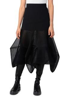 Akris Structured Mesh Layered Midi Skirt