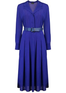 Akris tailored belted dress