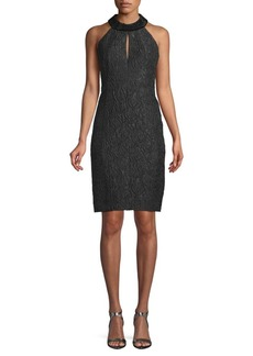 Akris Textured Halterneck Sheath Dress