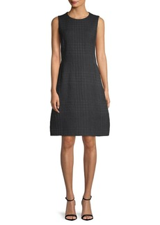 Akris Textured Wool A-Line Dress