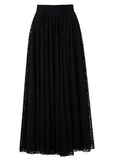 Akris Tiled Lace Maxi Skirt