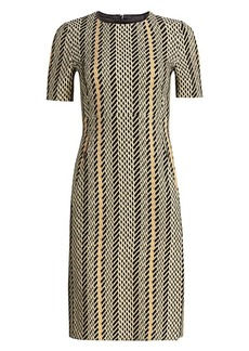Akris Tweed Double Face Wool Sheath Dress