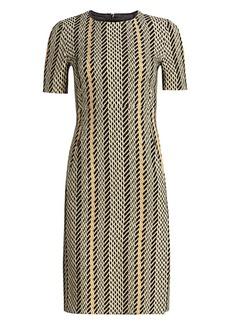 Akris Tweed Double Face Wool Sheath Dress