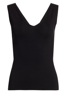 Akris V-Neck Knit Shell