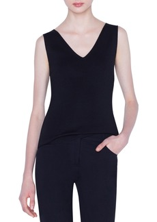 Akris V-Neck Stretch-Silk Tank