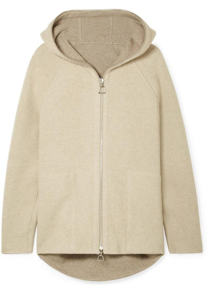 Akris Vanda Hooded Reversible Knitted Cardigan