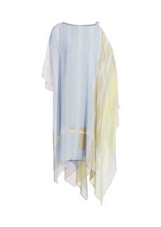 Akris Variazoni Silk Handkerchief Shirt Dress