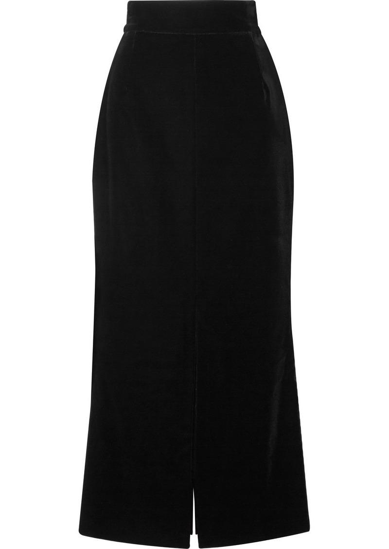 Akris Velvet Midi Skirt