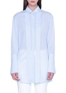 Akris Voile Stripe Print Tunic