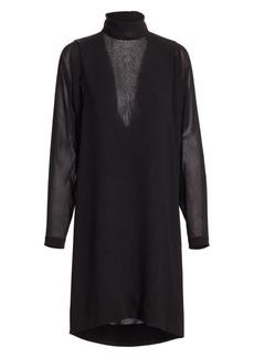 Akris Waterfall Back Silk Dress