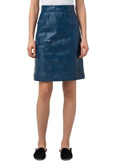 Women's Akris A-Line Nappa Leather Skirt
