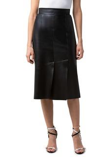 Women's Akris Leather Skirt