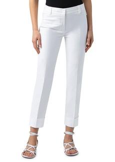 Women's Akris Maxima Cuff Crop Poplin Pants