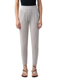 Women's Akris Metallic Silk & Organic Cotton Blend Ankle Sweater Joggers