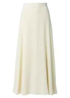Akris Wool & Silk Seersucker A-Line Midi Skirt