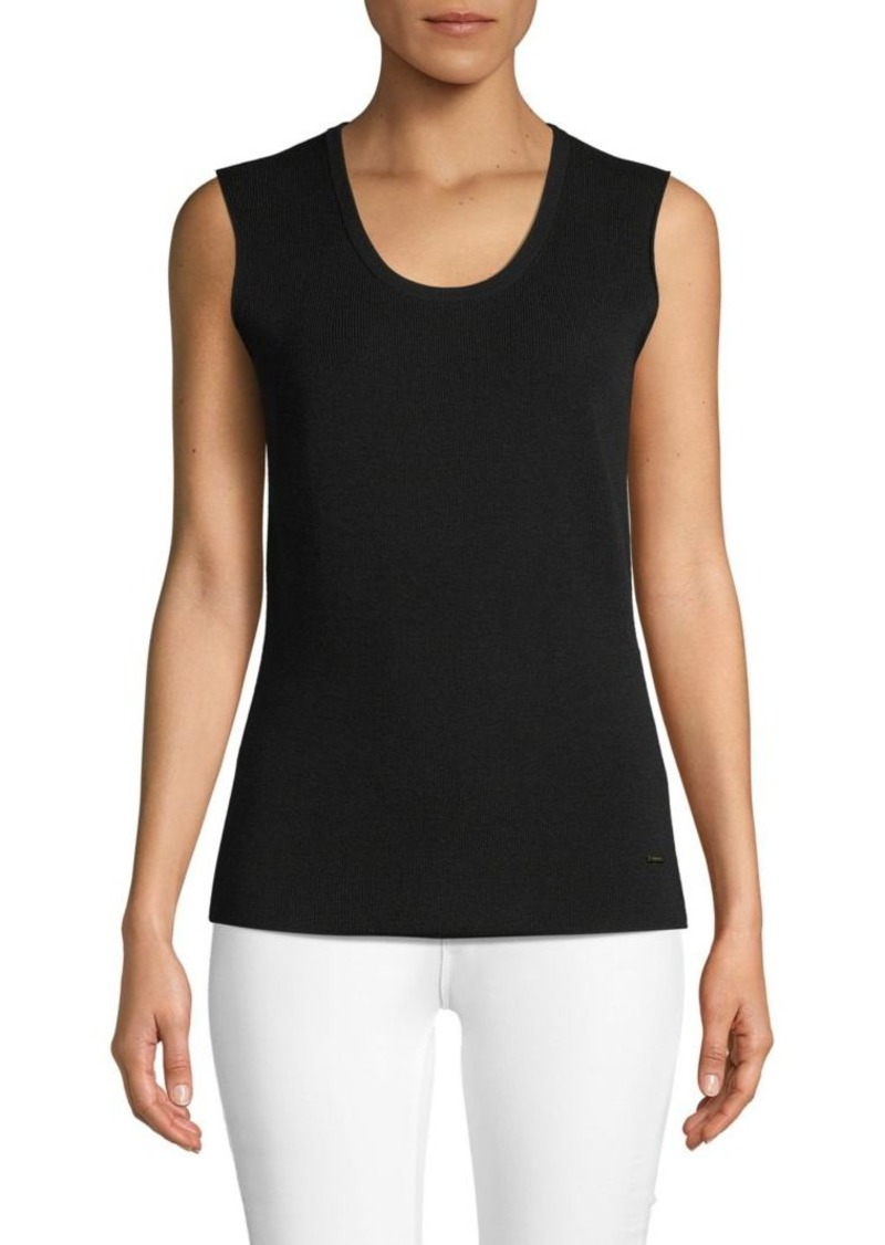 Akris Wool-Blend Ribbed Tank