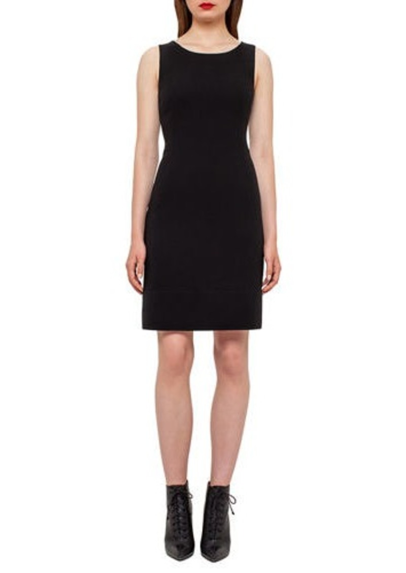 Akris Wool Crepe Double-Hem Dress