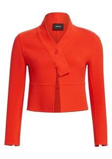 Akris Wool Cropped Scarf Jacket