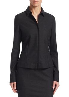 Akris Wool Flannel Shirt Jacket