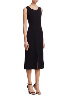 Akris Stretch Wool Double-Face Dress