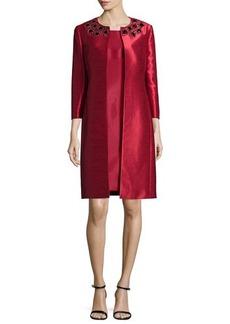 Albert Nipon Bead-Trim Jacket & Sheath Dress Set