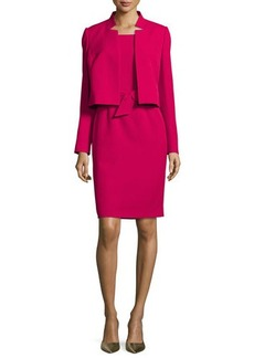 Albert Nipon Belted Sheath Dress W/Matching Jacket