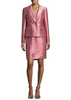 Albert Nipon Satin Single-Button Jacket w/ Dress