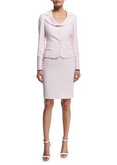 Albert Nipon Seersucker Jacket & Dress Set