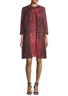 Albert Nipon Sleeveless Jacquard A-line Dress w/ Matching Jacket