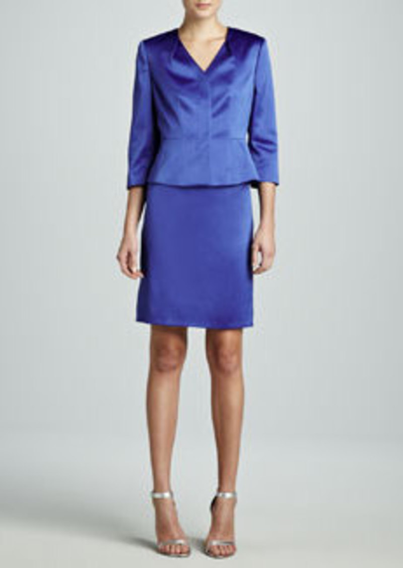 Albert Nipon Three-Quarter-Sleeve Modern Skirt Suit