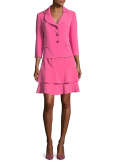 Albert Nipon Topper Jacket & Tiered Skirt Set
