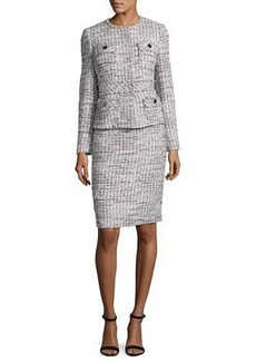 Albert Nipon Tweed Jacket w/ Pencil Skirt