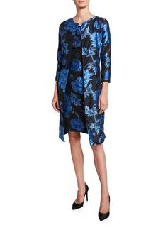 Albert Nipon Two-Piece Floral Jacquard Dress & Topper Set