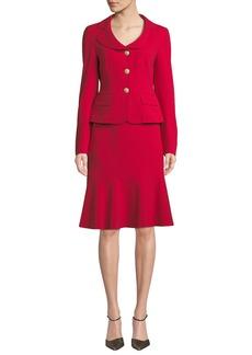 Albert Nipon Two-Piece Jacket & Flounce Skirt Set