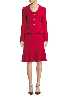 Albert Nipon Two-Piece Jacket & Flounce Skirt Set