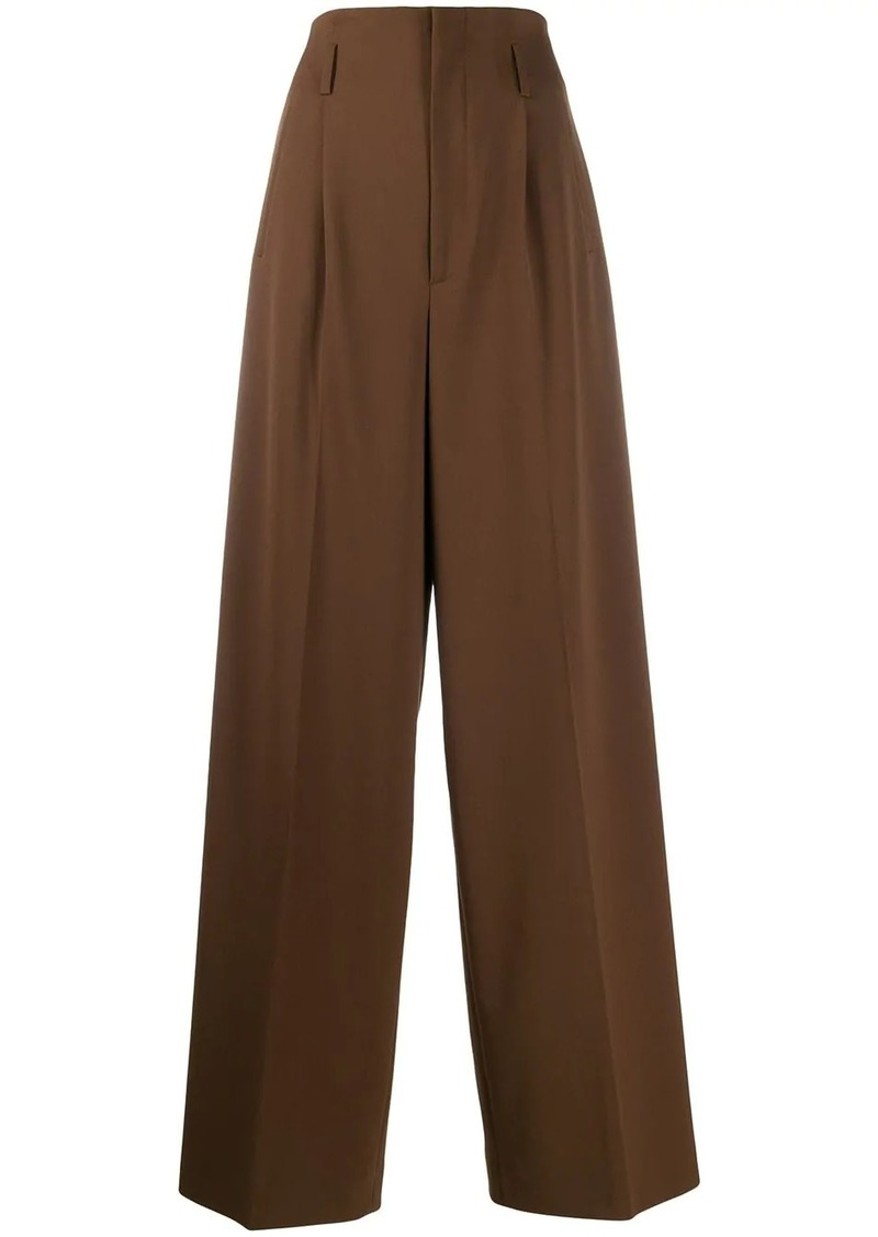 Alberta Ferretti front pleat trousers