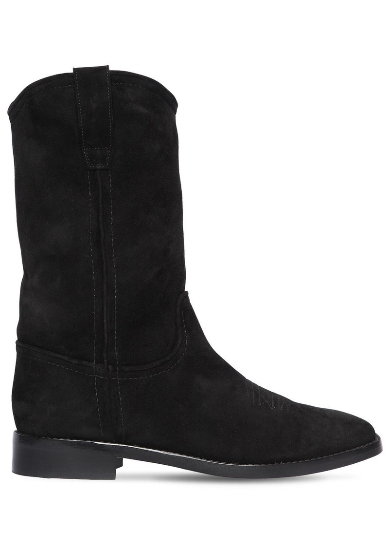 Alberta Ferretti 20mm Faux Suede Ankle Boots