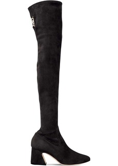 Alberta Ferretti 60mm Stretch Suede Over-the-knee Boots