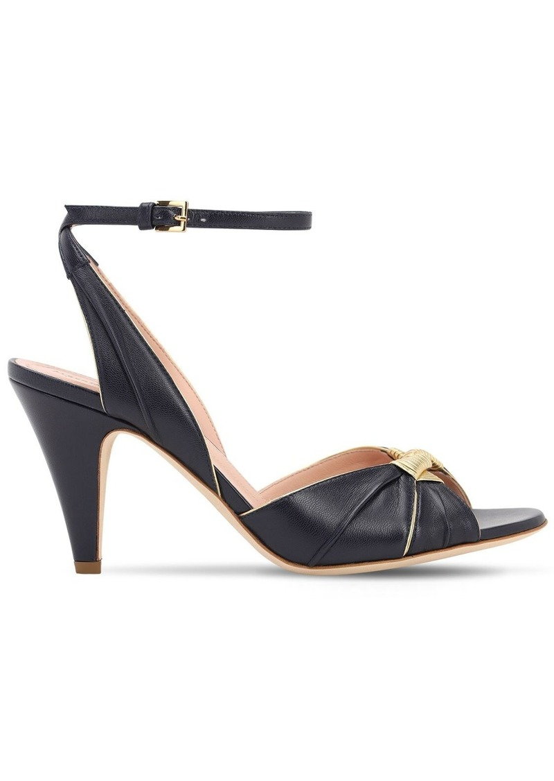 Alberta Ferretti 80mm Leather Sandals