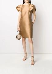 Alberta Ferretti A-line layered sleeve dress