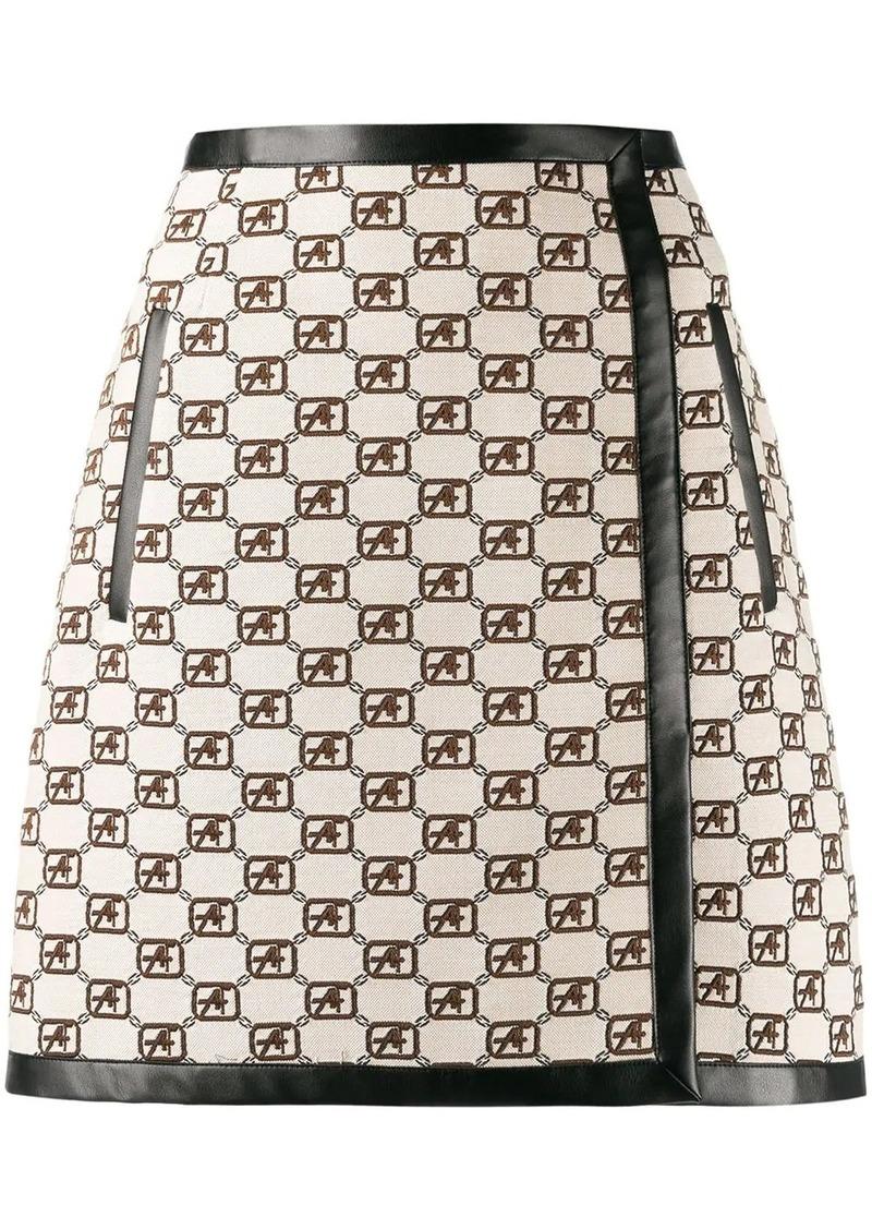 Alberta Ferretti A-line logo mini skirt