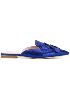 Alberta Ferretti bow detail mules - Blue