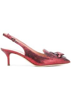Alberta Ferretti bow sling-back pumps - Red