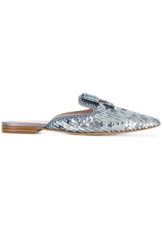 Alberta Ferretti brocade loafer mules - Blue