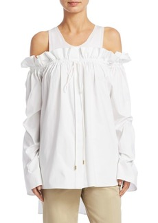Alberta Ferretti Cold-Shoulder Blouse