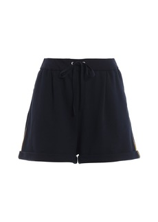 Alberta Ferretti Cotton Fleece Navy Blue Short Pants J03271676290