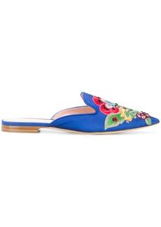Alberta Ferretti Mia floral mules - Blue