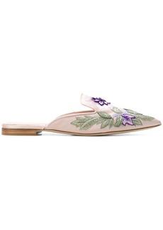 Alberta Ferretti floral embroidered mules - Pink & Purple