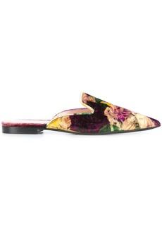 Alberta Ferretti floral pattern mules - Multicolour