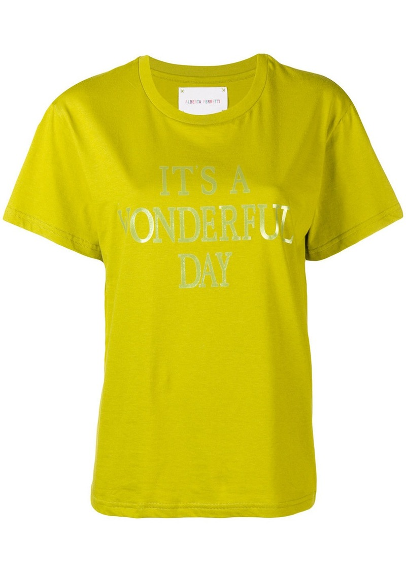 Alberta Ferretti I'ts a Wonderful Day T-shirt